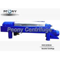 Centrifugal Sewage Treatment Plant Decanter Centrifuges For Separating Suspension Manufactures