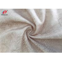 China Anti Pilling Polyester Fleece Fabric , Printed Velvet Sofa Fabric For Upholstery on sale