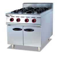 Cheap Silvery White 4 Burners Gas Cooking Stoves With Storage Cabinet 12 Months Guarantee for sale