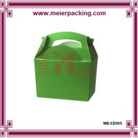 China Cusom folding gift box with paper handle, glossy lamination paper food box  ME-CD005 on sale
