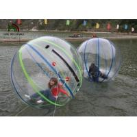 1.0mm PVC 2m Dia Inflatable Walk On Water Ball Colorful Stripe Ball For Rentals Manufactures