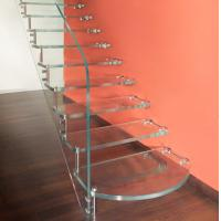 Quality Ultra Clear Tempered Laminated Glass For Stairs High Strength ISO 12543 for sale