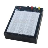 Black Flameresistant Case Powered Breadboard with 2420 Point  White Board Manufactures