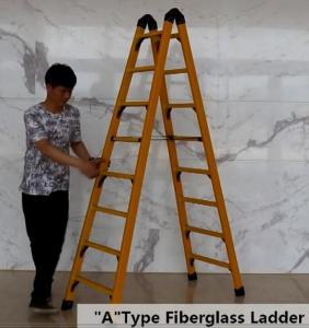 Collapsible 2.05m 2X8 Fiberglass Telescoping Ladder Manufactures