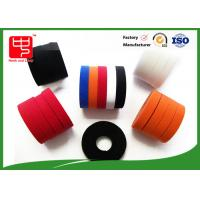 Colored hook and loop tape nylon / polyester Material , double sided sticky velcro tape 500 meters