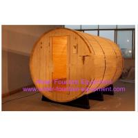 Canopy Barrel Sauna Room Canadian Pine Wood Electric Sauna Heater Manufactures