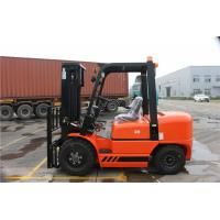 Counter Balance Diesel Forklift Truck With ISUZU C240 Engine Pneumatic Tire Manufactures