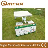 Aluminum Outdoor Camping Tables / Four Person Folding Dining Table Manufactures