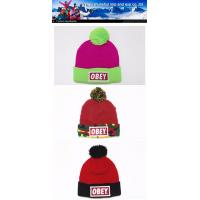 Knitted Hat Embroider Fashion Cheap Pom Pom Hat