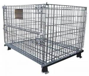 Supermarket Folding Stackable Wire Mesh Container Manufactures