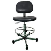 Comfortable ESD Cleanroom Chairs , Durable Safety Black Anti Static Chair PU Foam Manufactures