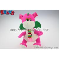 """China Manufacturer Pink Stuffed Dinosaur Animal With Scarf In 10"""" Size Manufactures"""