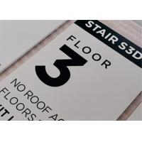 """Easily Install ADA Compliant Signs 1/8"""" Digital Uv Printed Text Custom Color / Size Manufactures"""