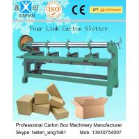 Corrugated Carton Making Machine , Single / Double Four Link Slotting Machine