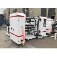 Self Adhesive Label Paper Roll Rewinding Machine , Slitter Rewinder Machine Centralized Control Manufactures