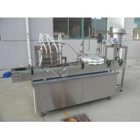 Cheap Rotary Type Liquid Filling Capping Machine For Plastic Bottle Touch Screen Operation for sale