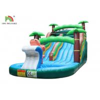 9*4*5 m Green Tree Family Inflatable Water Slide Kids Seaworld Backyard With Pool Manufactures