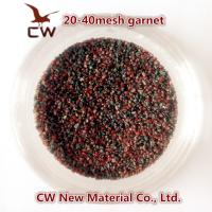 China Garnet sand blasting abrasives 20/40 30/60 on sale