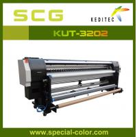 3.2 meter  uv roll to roll printer for all soft materials KUR-3202.UV ink Manufactures