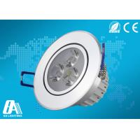 Aluminum LED Ceiling Downlights 3 Watts 80lm / W Cool White 6500K Manufactures