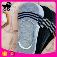 2017  95%Polyester 5%Spandex 24g 24cm Summer Cotton Material Striped Sweat-Absorbent Invisible Winter Boat Socks Manufactures