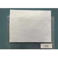 250 Gsm Snow White Needle Punched Felt Fabric Squares For Mats , 5mm Thickness Manufactures