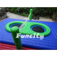 China 0.55mm PVC Tarpaulin Colorful Inflatable Sport Games For Inflatable Volleyball Court on sale