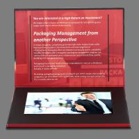 Cheap Advertisement 7 inch Lcd Video Brochure Card / Lcd Video Business Cards for sale