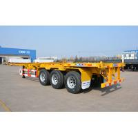 Buy cheap Container Wide Flatbed Trailer 40 Foot Triple Axle Trailer With Fender from wholesalers
