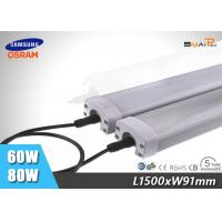 Outdoor 60W LED Tri Proof Light IP65 , Explosion Proof LED Light Tube Manufactures