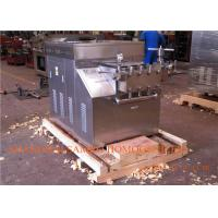 Dairy Homogeniser Machine For Plate milk pasteurizer and Homogenizing Manufactures