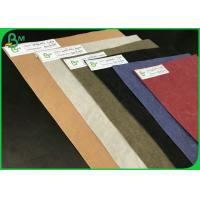Tear Resistant Eco - Friendly 0.3mm 0.55mm Colorful Washable Kraft Paper For DIY Bags Manufactures