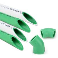 Environmental Friendly Ppr Plastic Hot Water Pipe Green Color Corrosion Resistant Manufactures