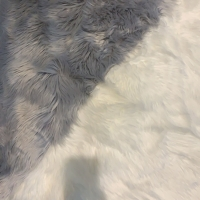 Acrylic White Blanket 150cm Width Synthetic Fur Fabric Carpet Manufactures