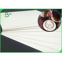 Recycled 20PT 40PT 60PT Natural White Absorbent Cardboard For Drink Coasters Manufactures