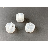 11*7mm MBBR Bio Filter Media K1 With White Color And Virgin HDPE Material Manufactures