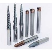 CNC Solid Carbide Taper End Mill With Chamfer Cutter HRC45 & HRC55 Hardness Manufactures