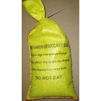 2kg Container Desiccant Bag (Clay+CaCl2) With Plastic Tied For Shipping Container (Very Strong Yellow PET Non-Woven Bag) Manufactures