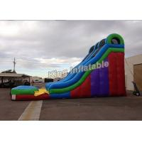 Buy cheap Commercial Grade Giant 24 Feet Dual Lane Inflatable Water Slide Sport Games from wholesalers