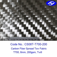 Twill Weave 12K Toray Spread Tow Carbon Fiber Fabric Manufactures