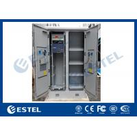 Solid Two Bay Telecom Cabinets Outdoor With Cooling / Monitoring System Manufactures