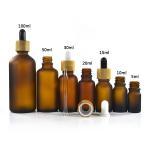 Cosmetics 50ml Essential Oil Glass Dropper Bottle High Proficiency PP24 Cap Manufactures