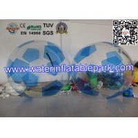 PVC Inflatable Water Ball , Outdoor Inflatable Football with Fun Manufactures