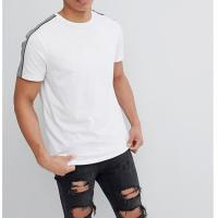 White Trendy Oversized T Shirts O Neck Classic Contrast Stitching Design Manufactures