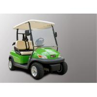 Electronic Small 2 Seater Golf Cart With Caddy Plate CE Approved , Green Color