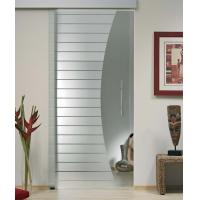 Interior Sliding Flat Tempered Glass , Tempered Glass Office Door Manufactures
