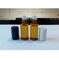 Customize Size Roll On Perfume Bottles , Glass Roll On Bottle With Metal Roller Ball Manufactures