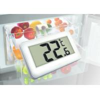 High Accuracy Digital Refrigerator Freezer Thermometer Large Display White Color Manufactures