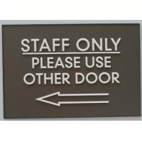 Straight Edge Ada Directional Signs Custom Size Color With Tactile Text / Arrow Manufactures