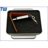 Buy cheap PU Leather 1GB USB Memory Stick Thumb Drive Customized Printing from wholesalers